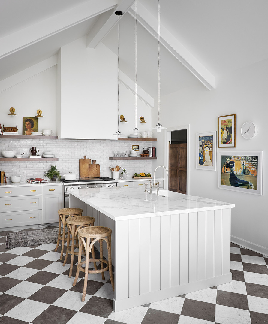 Laurie French Inspired Kitchen, Mudroom, Laundry and Pantry Renovation by ReDesign Home LLC