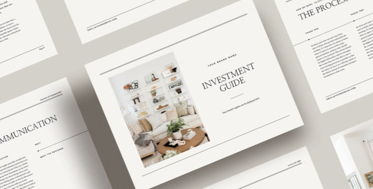 The Billie Investment Guide for Interior Designers