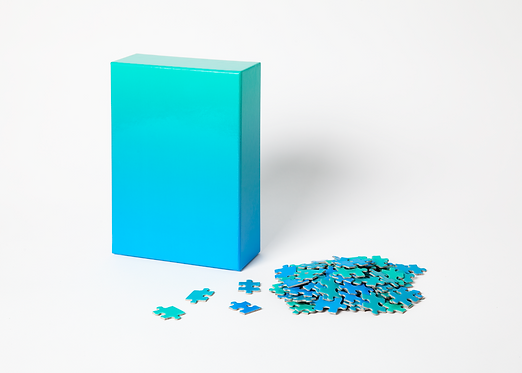 Gradient Puzzle, Blue Green