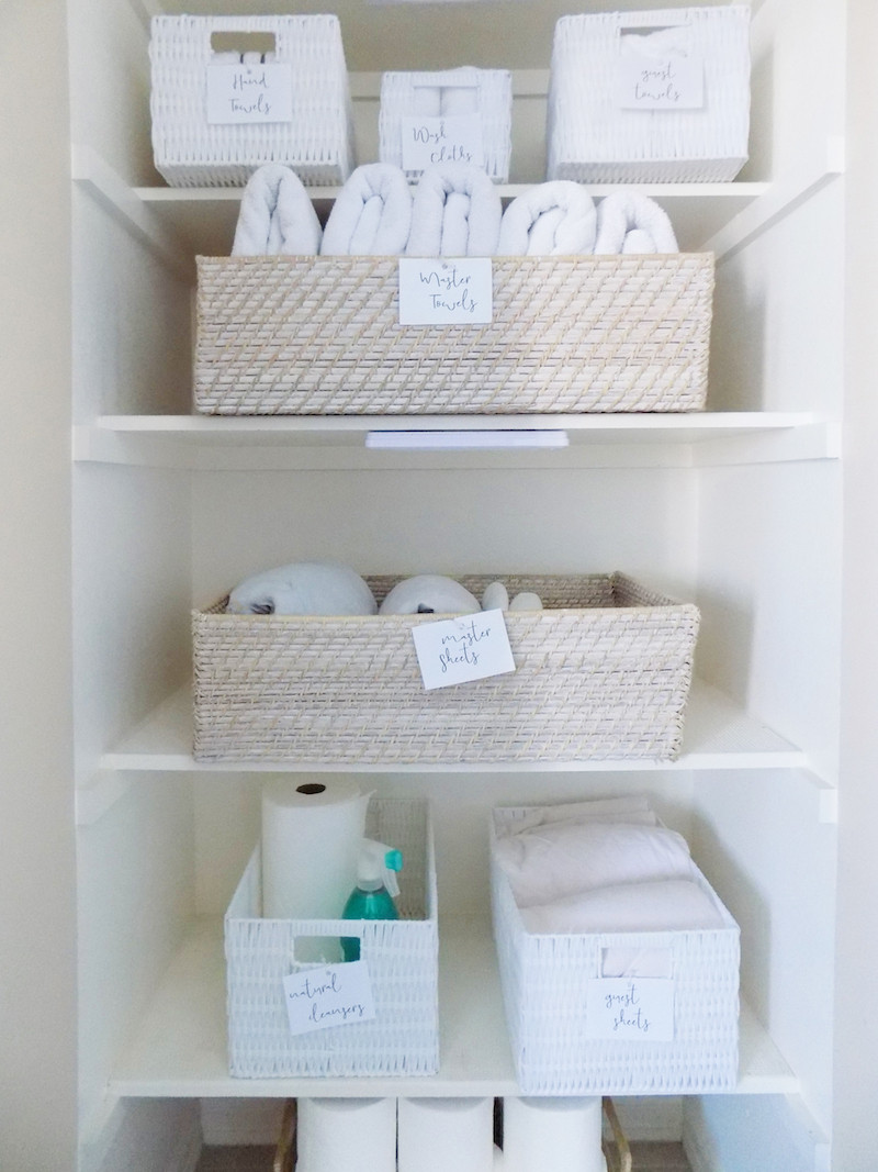 free printable organization labels for linen closet by new yorks best professional organizer