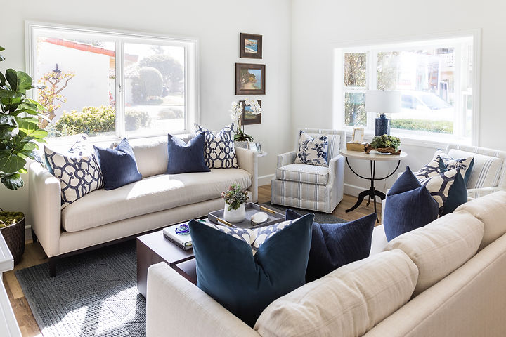 This family home was so fun to design!  We completely remodeled every space in the house to create a bright, airy beach aesthetic with traditional, elegant details.  We loved creating this design from conception to installation!