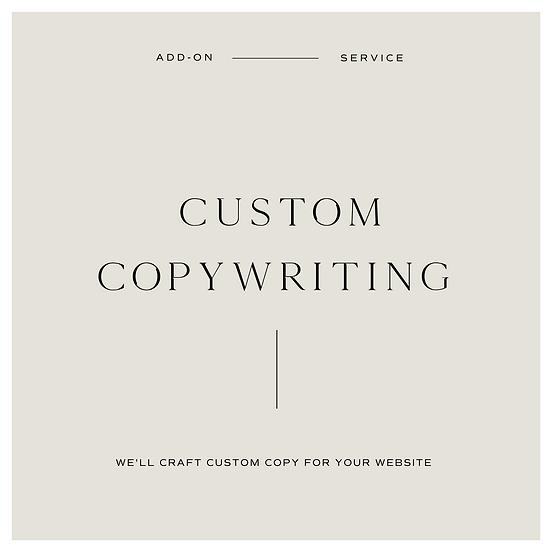 Custom Copywriting