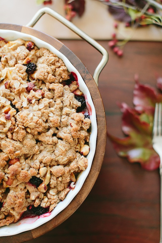 Apple & Blackberry Crisp