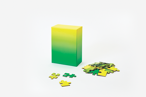 Gradient Puzzle, Green Yellow
