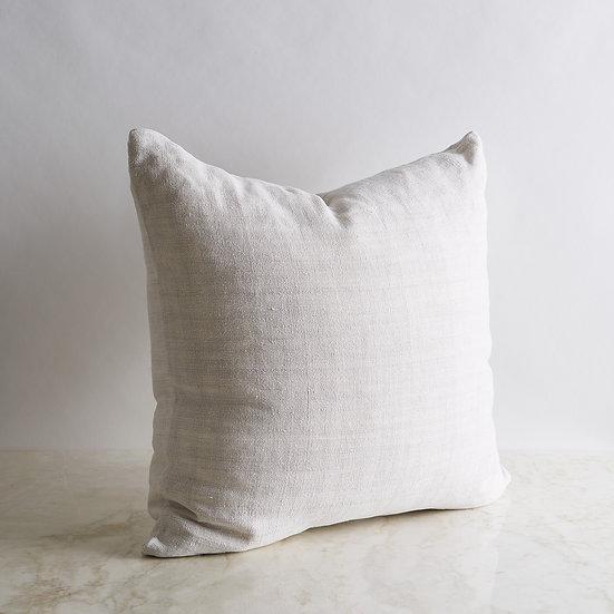 Vintage Linen Pillow Cover - Light Gray