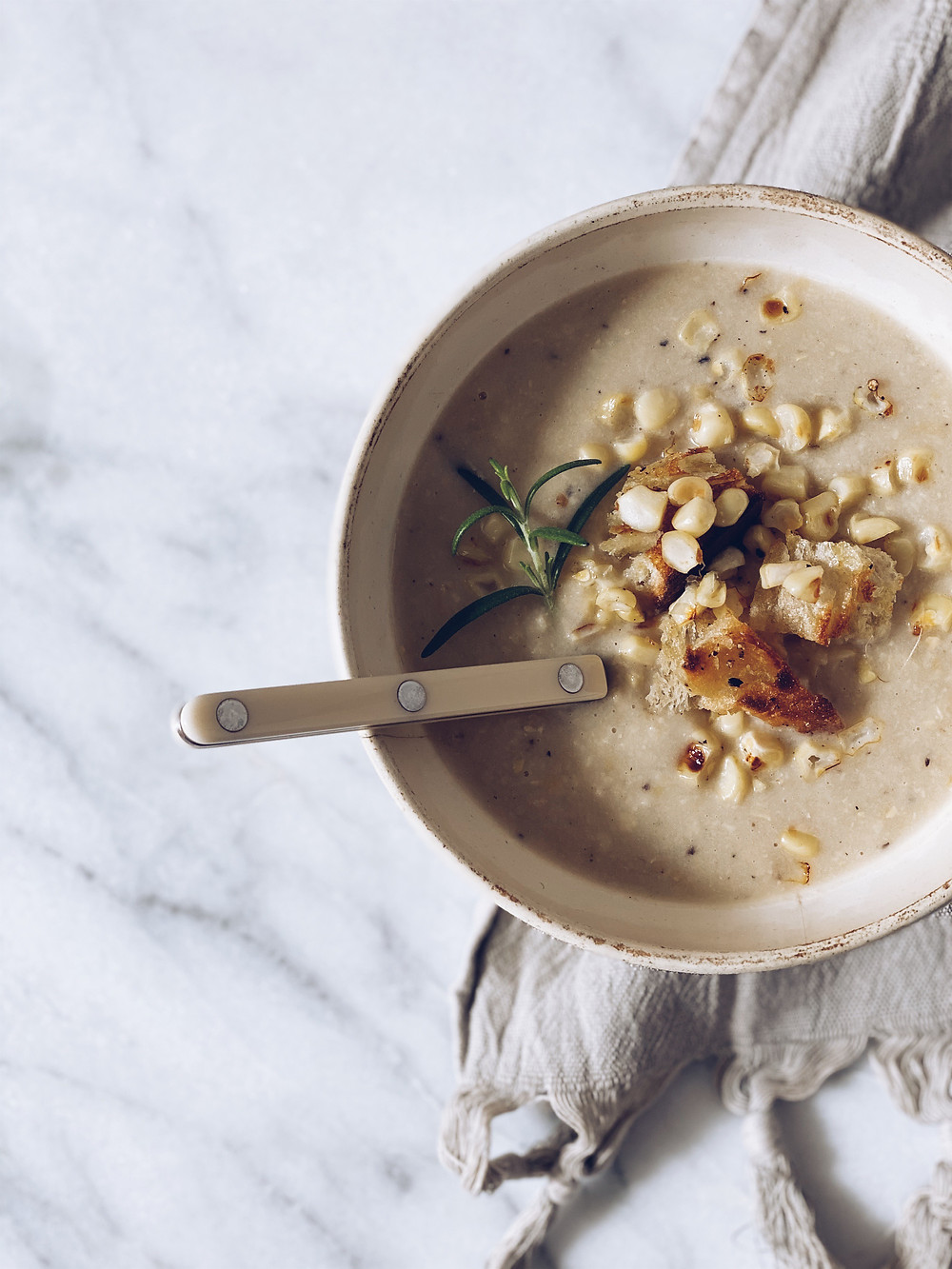 Fresh Corn Soup Recipe from Caitlin Flemming on Sacramento Street