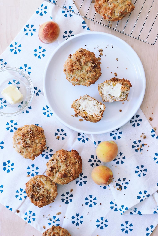 Peach Coconut & Banana Muffins