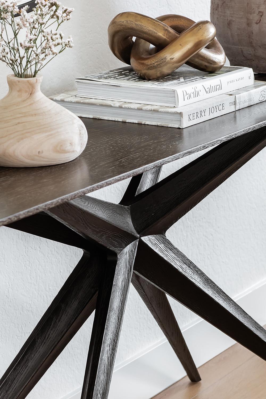 dark modern console table