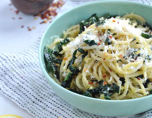 On the Menu: Lemon & Kale Spaghetti