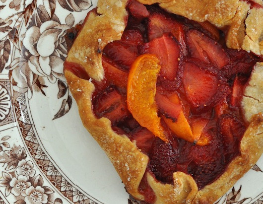 On the Menu: Apricot & Strawberry Galette