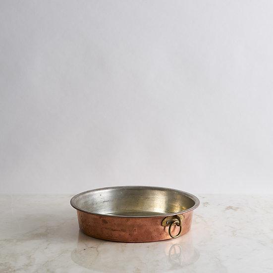 Antique copper platter pan