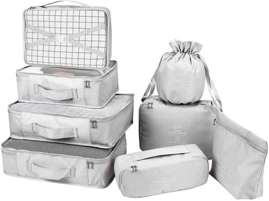 Packing Cubes 8 Sets, Travel Luggage Organizers