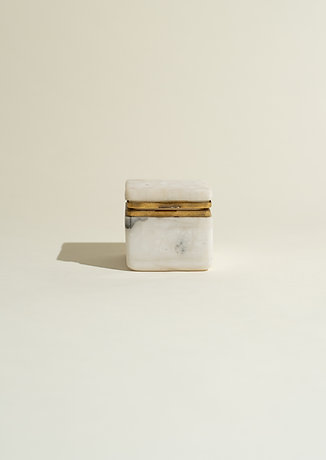 Marble + Brass Keepsake Box