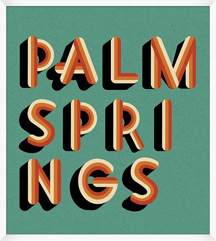 Palm Springs Teal & Orange