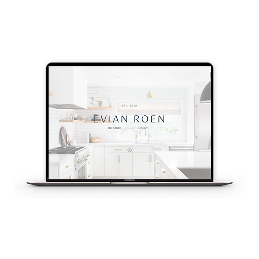 A modern, sleek website template for interior designers | The Evian Website Template