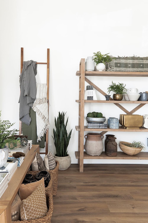 open wood shelves at Lindsey Brooke Design