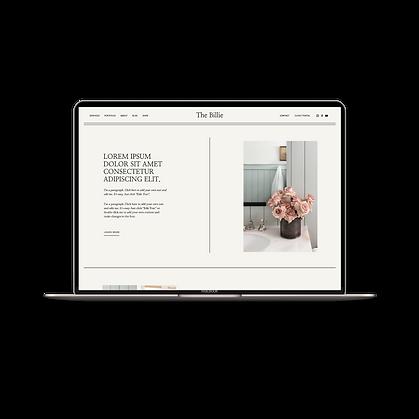 The Billie Website Template