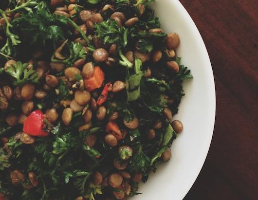 On the Menu: Herby Lentil Salad