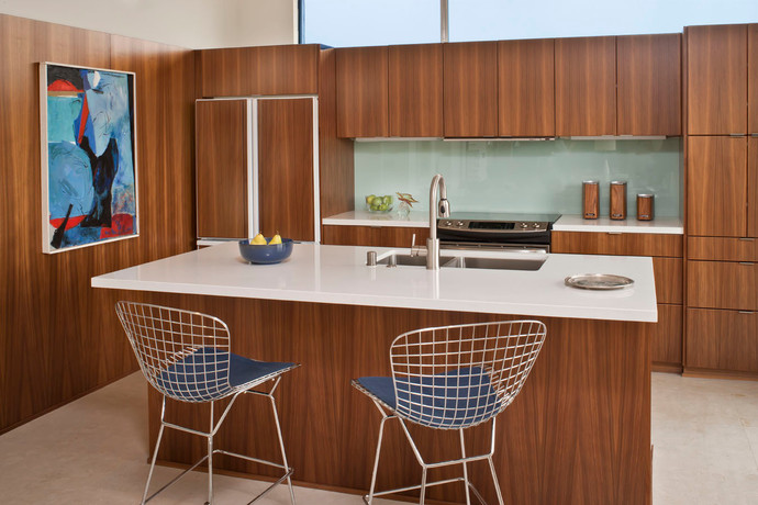 Modern, neutral mid-century design by Christopher Kennedy - Palm Springs Interior Design Studio