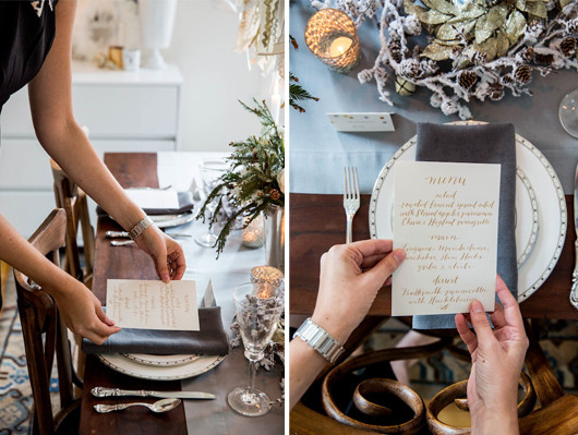 Holiday Tabletop Menu | Sacramento Street