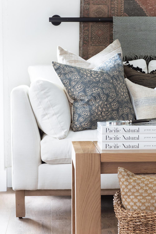 Boden sofa by Rowe in Breathe by Milliken fabric