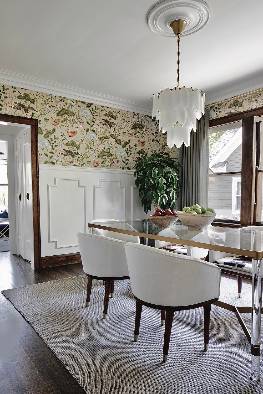 Elegant and modern formal dining room by ReDesign Home