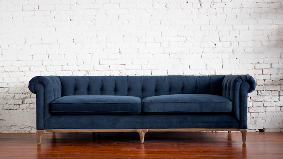 CHARLESTON SOFA - NAVY | Now available at Birch and Brass