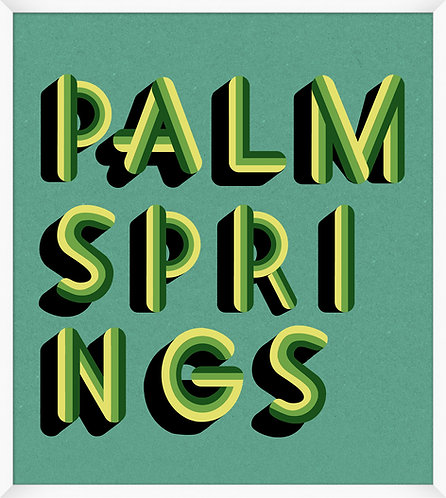 Palm Springs Teal & Green