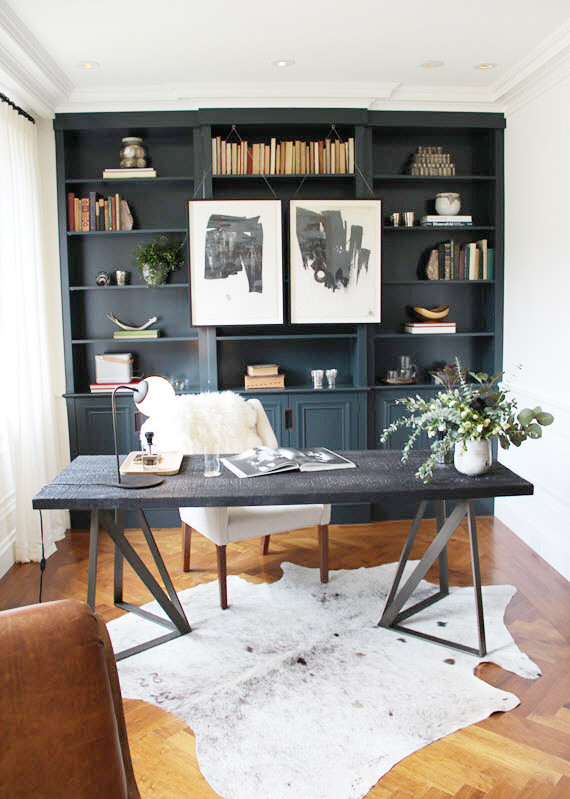 moody home office inspiration