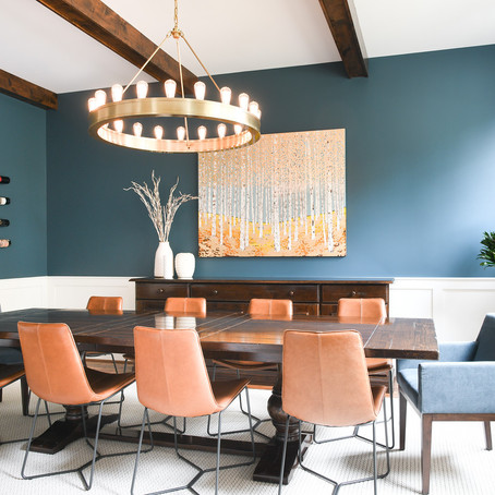 Before + After: A New Dining Room Designed Around Art