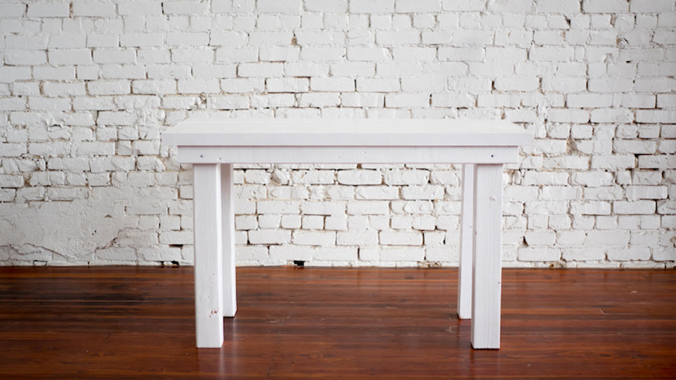 PETITE WHITE FARM TABLE | Now available at Birch and Brass