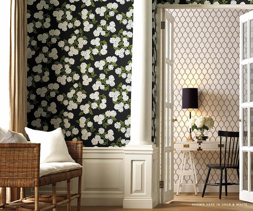 black and white wallpapers by Rifle Paper Co.