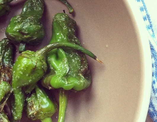on the menu: padron peppers