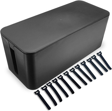 Cable Management Box Hide Wires and Surge Protector Box, Wire Organizer for Home and Office