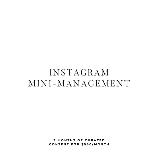 Instagram Mini-Management