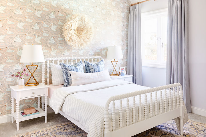 The sweetest spaces for big sis, little sis + a chic playroom