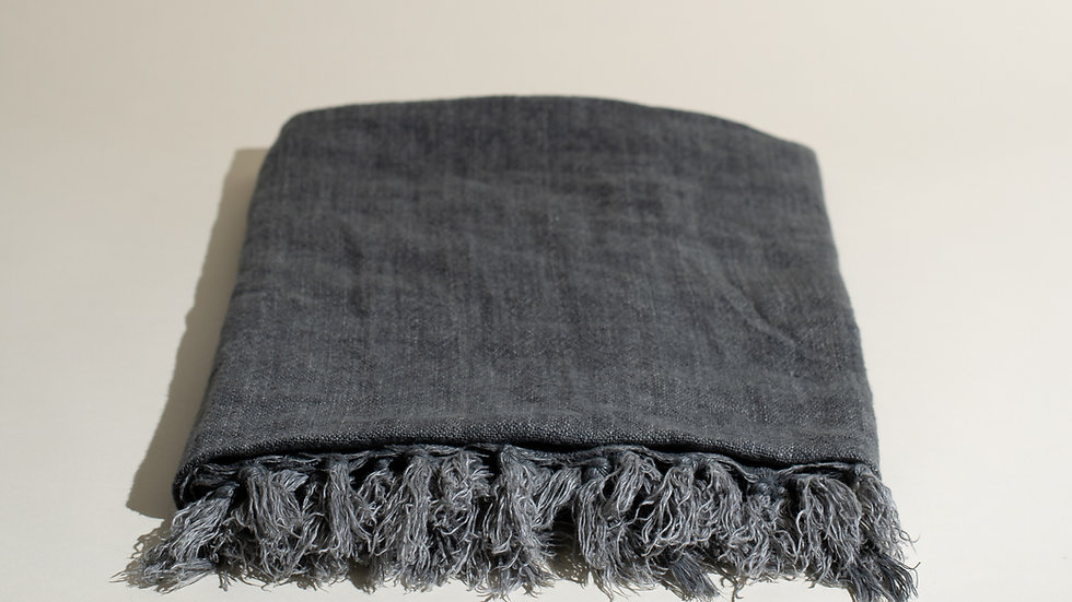Belgian Linen Throw Blanket