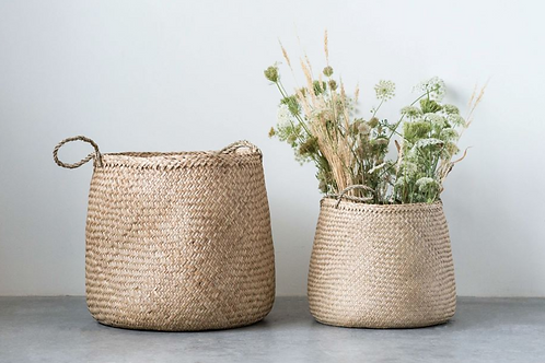 Small Natural Woven Seagrass Basket