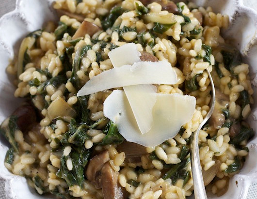 On the Menu: Risotto with Chard and Wild Mushrooms