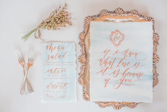Florals: Petals & Roots  Photography: Ayenia Nour Photography  Stationery & Calligraphy: Ink + Nibs