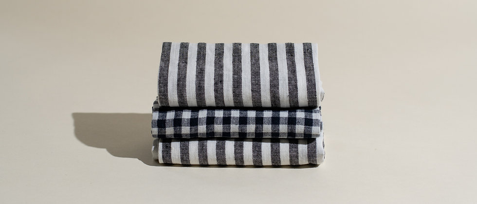 Striped Linen Kitchen Towel