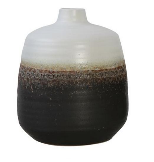 Ceramic Vase, Ombre Reactive Glaze