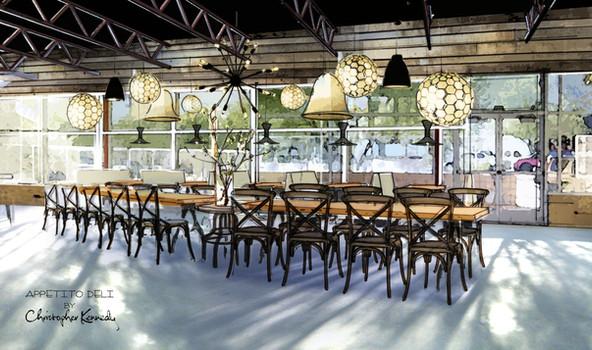 Apettito Restaurant Design by Palm Springs Interior Designer Christopher Kennedy