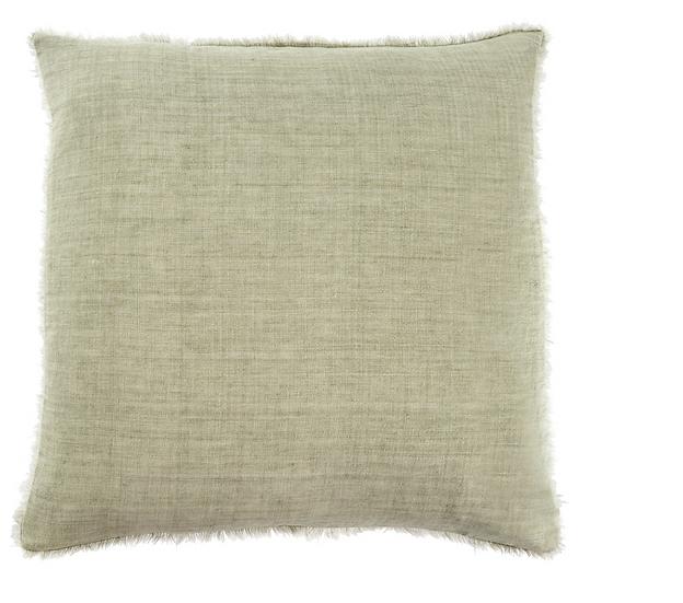 24x24 Linen Pillow, Olive