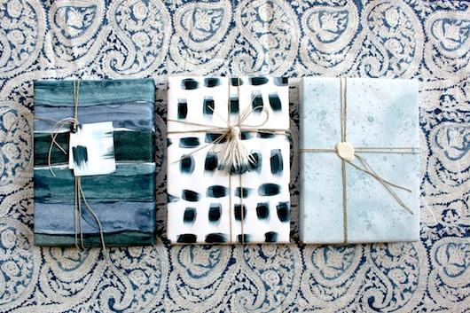 Seasonal Wrapping: Indigo Hues