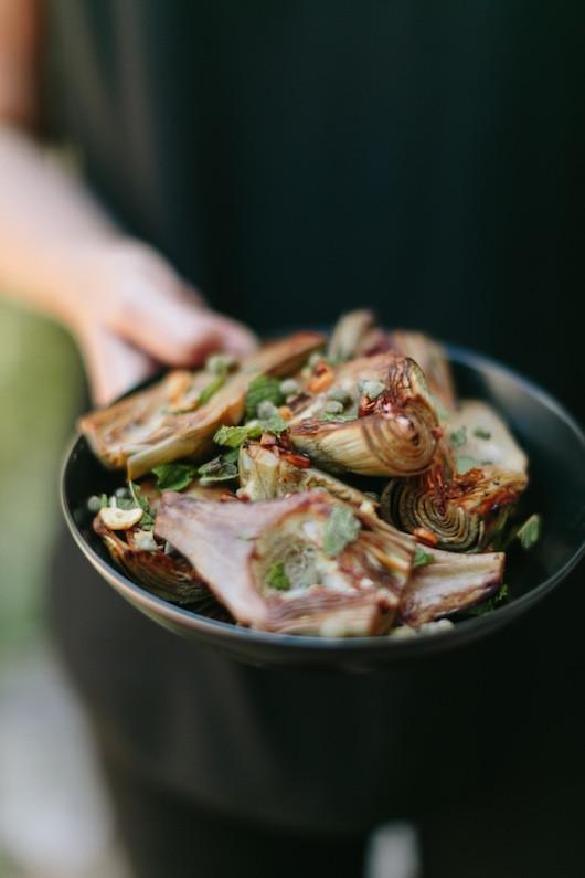 Pot Roasted Artichokes