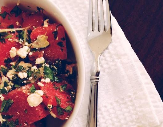 On the Menu: Minty Watermelon Salad