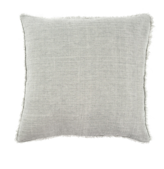 24x24 Linen Pillow, Flint Gray