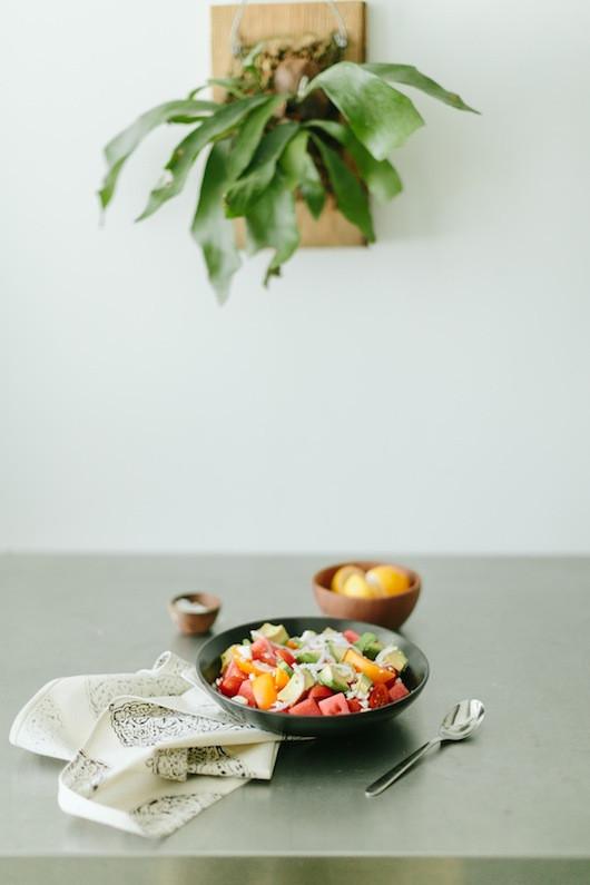 Watermelon and Tomato Salad - Recipe