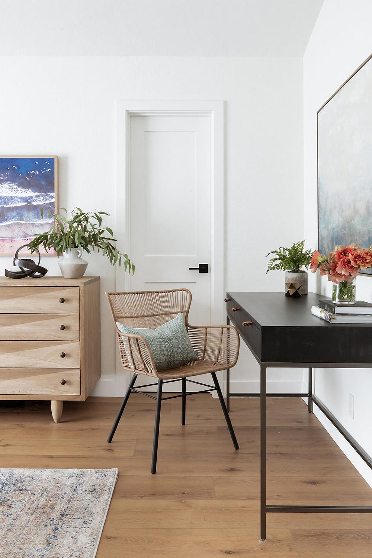 desk area in bedroom by Lindsey Brooke Design